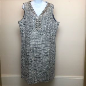Land's End Size 18 Tweed Lined Dress